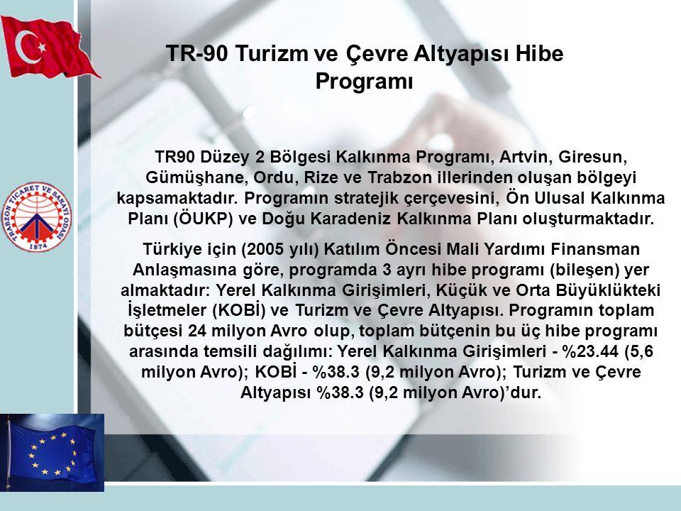 TR-90 Turizm ve Çevre Altyapısı Hibe Programı