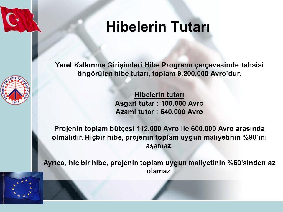 Hibelerin Tutarı Yerel Kalkınma Girişimleri Hibe Programı çerçevesinde tahsisi öngörülen hibe tutarı, toplam 9.200.000 Avro'dur.