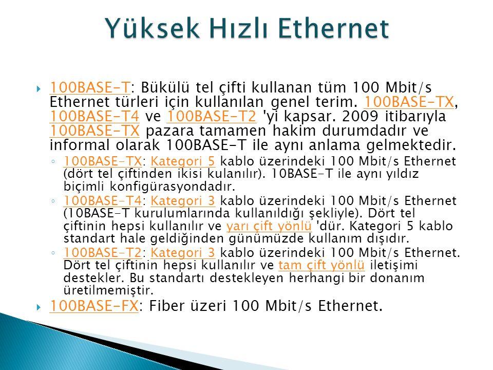 Yüksek Hızlı Ethernet