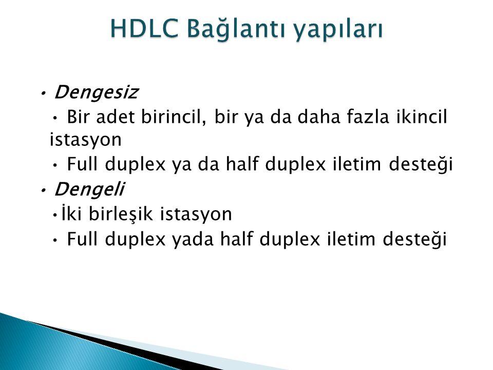 HDLC Bağlantı yapıları
