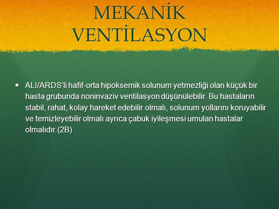 MEKANİK VENTİLASYON