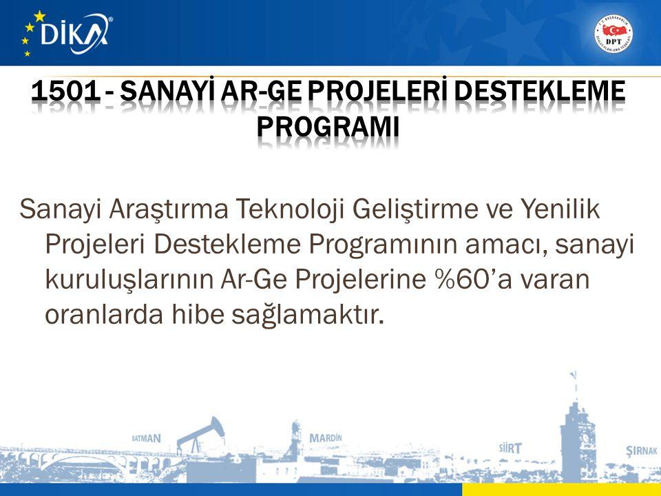 1501 - SANAYİ AR-GE PROJELERİ DESTEKLEME PROGRAMI