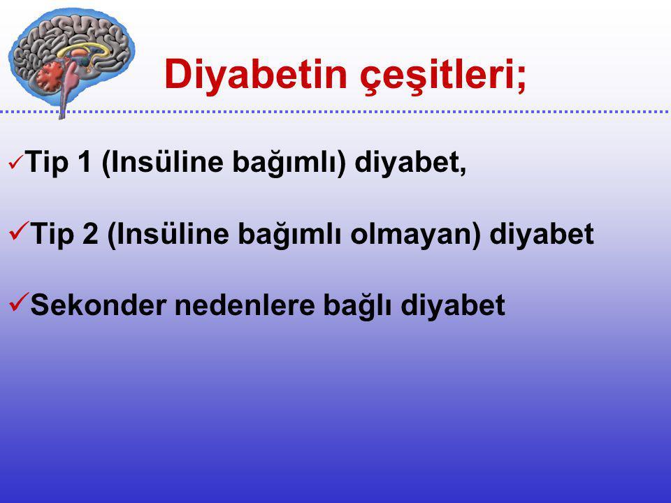 Diyabetin çeşitleri; Tip 2 (Insüline bağımlı olmayan) diyabet