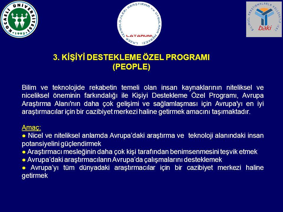 3. KİŞİYİ DESTEKLEME ÖZEL PROGRAMI (PEOPLE)