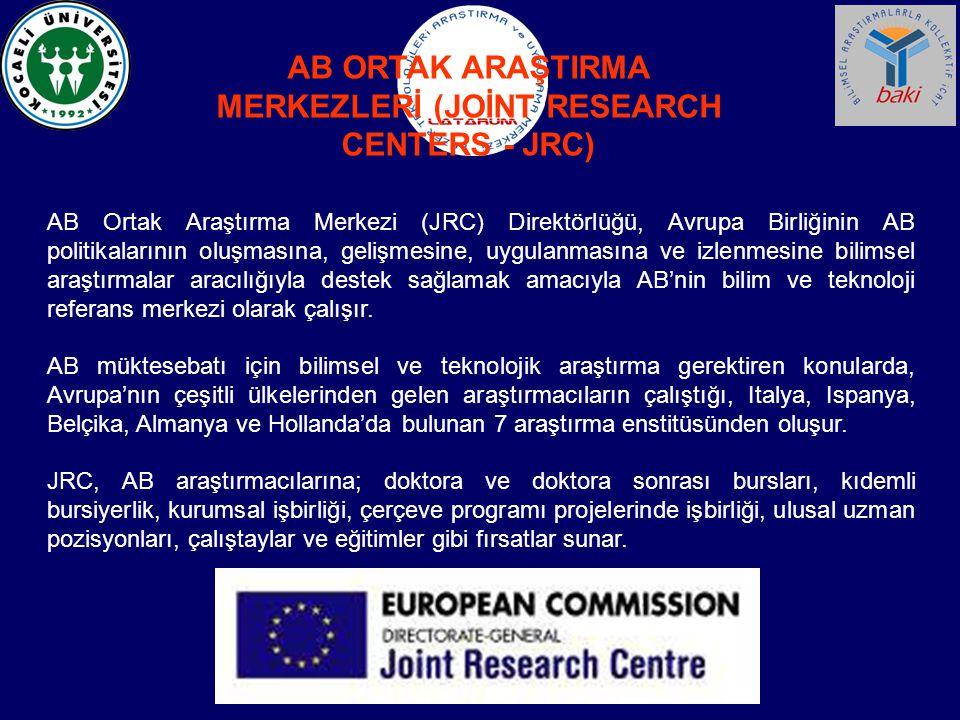 AB ORTAK ARAŞTIRMA MERKEZLERİ (JOİNT RESEARCH CENTERS - JRC)