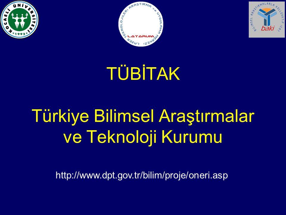 TÜBİTAK Türkiye Bilimsel Araştırmalar ve Teknoloji Kurumu