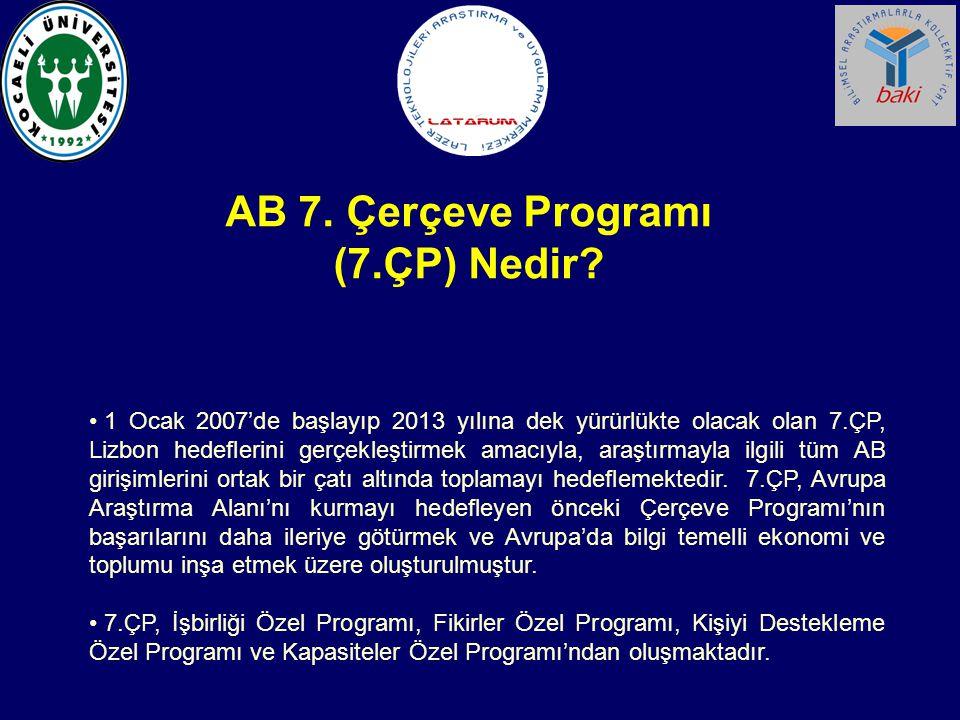 AB 7. Çerçeve Programı (7.ÇP) Nedir