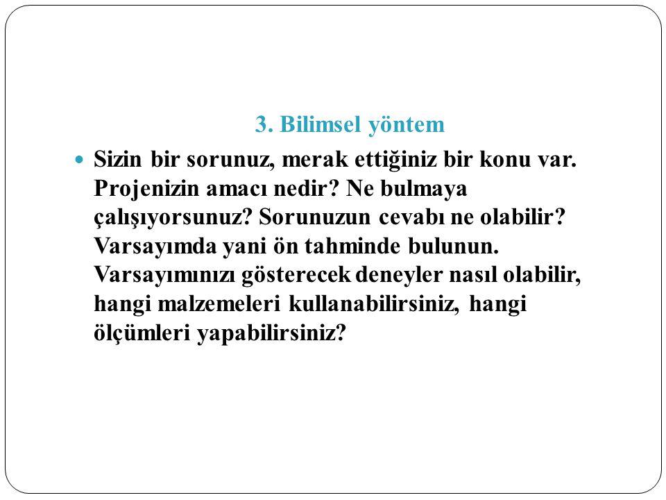 3. Bilimsel yöntem
