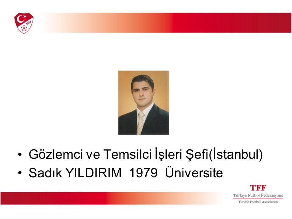 Gözlemci ve Temsilci İşleri Şefi(İstanbul)