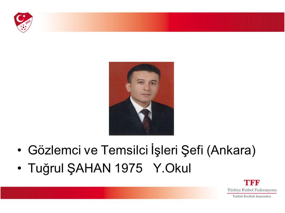 Gözlemci ve Temsilci İşleri Şefi (Ankara)
