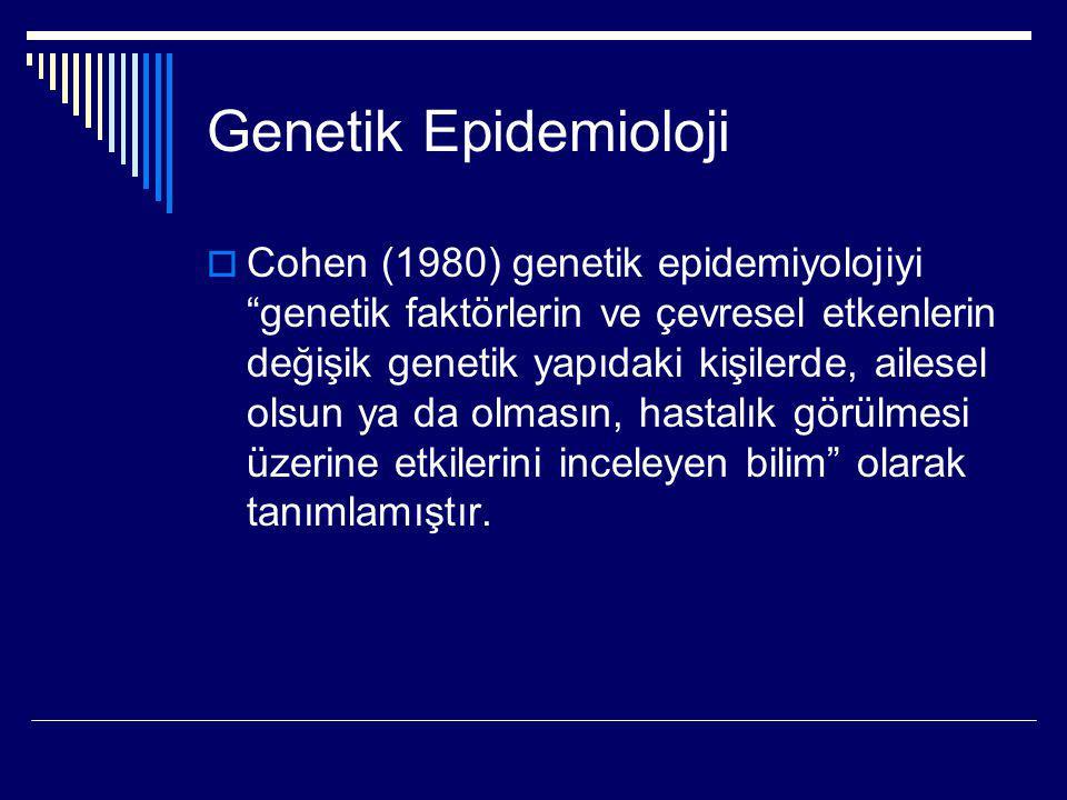Genetik Epidemioloji