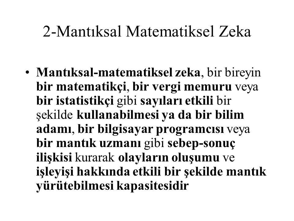 2-Mantıksal Matematiksel Zeka