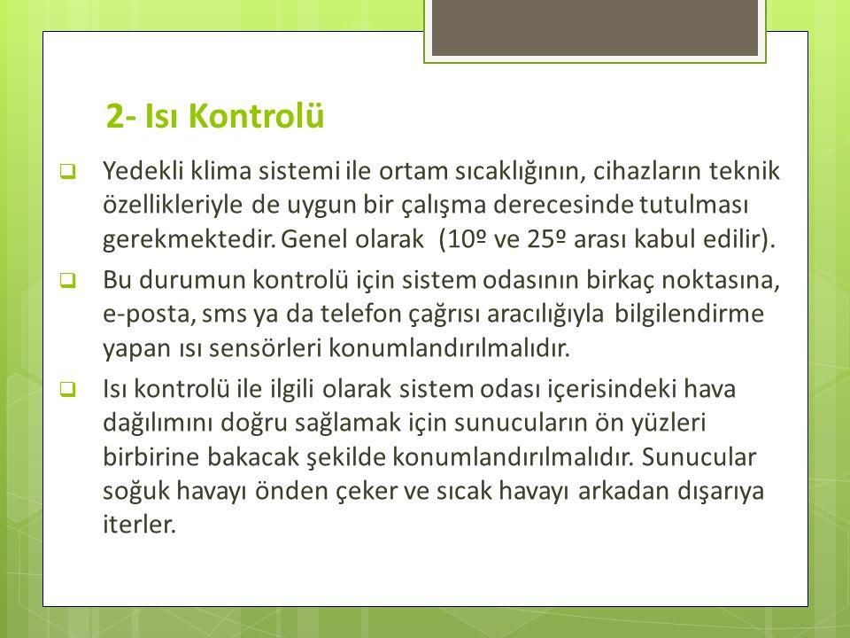 2- Isı Kontrolü