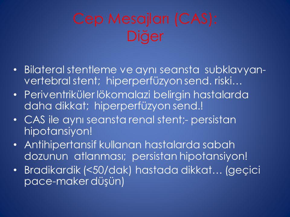 Cep Mesajları (CAS): Diğer