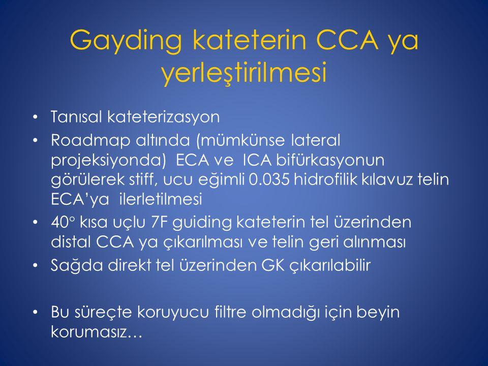 Gayding kateterin CCA ya yerleştirilmesi
