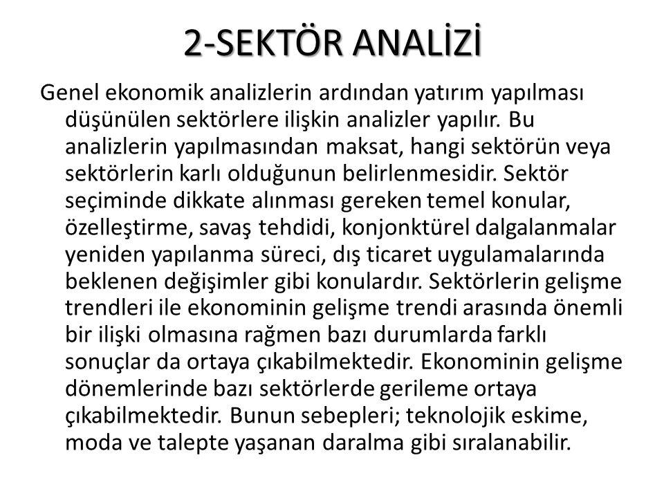 2-SEKTÖR ANALİZİ
