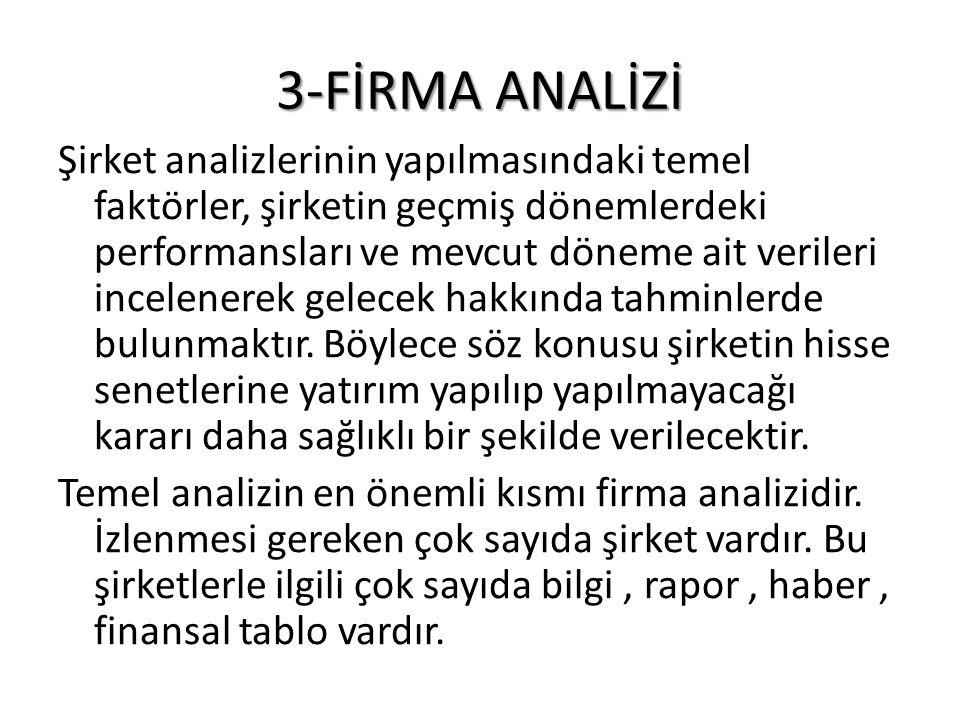 3-FİRMA ANALİZİ