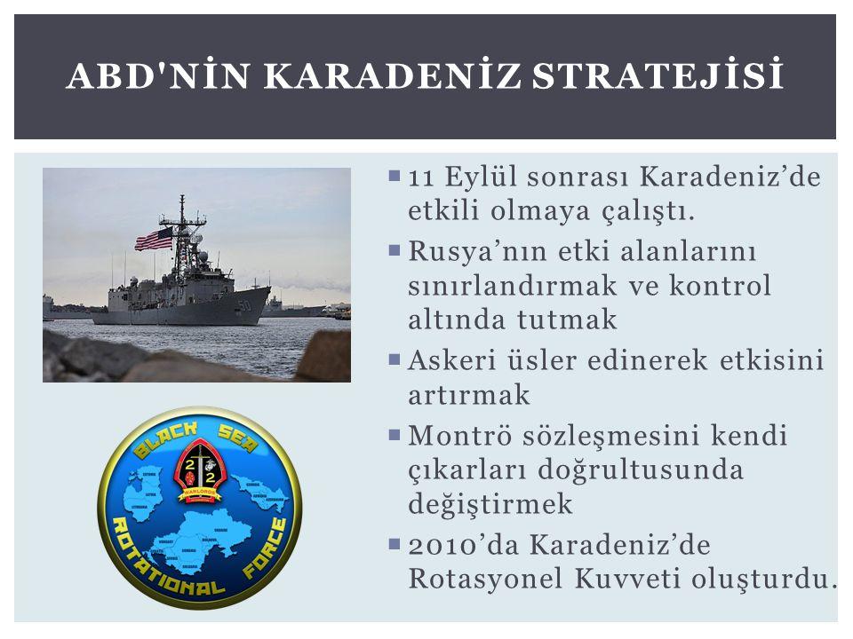 ABD nİn Karadenİz Stratejİsİ