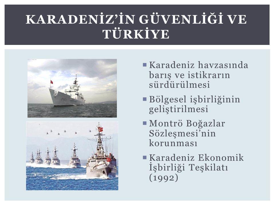 Karadenİz'İn GüvenlİĞİ ve Türkİye