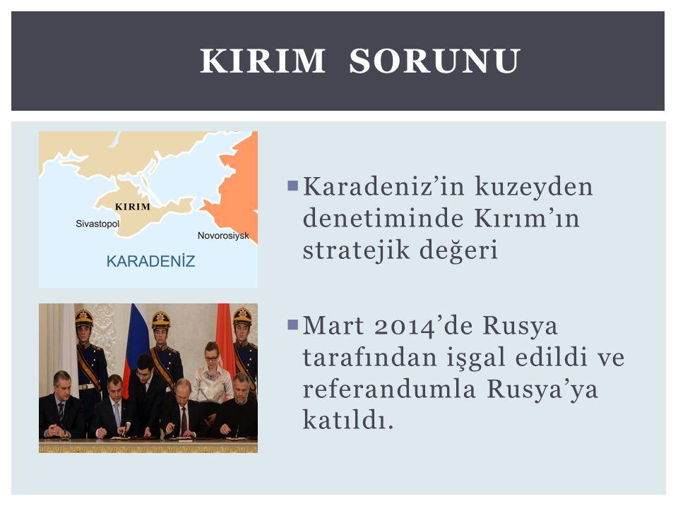 KIrIm Sorunu Karadeniz'in kuzeyden denetiminde Kırım'ın stratejik değeri.