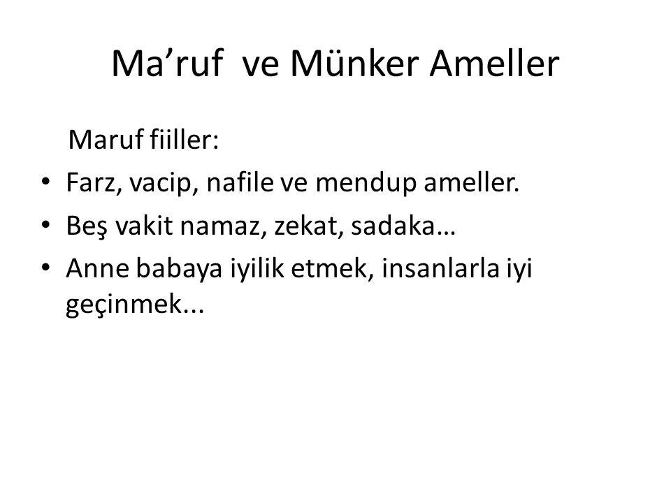 Ma'ruf ve Münker Ameller