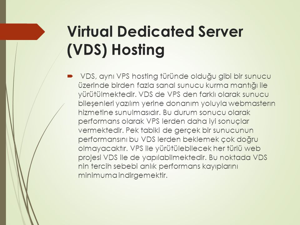 Virtual Dedicated Server (VDS) Hosting