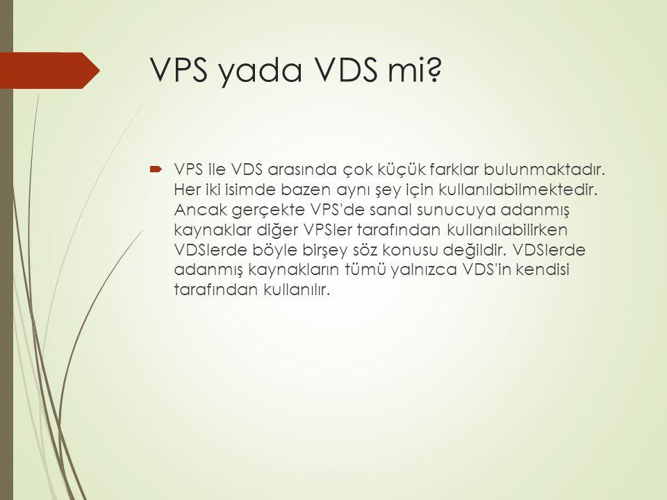 VPS yada VDS mi