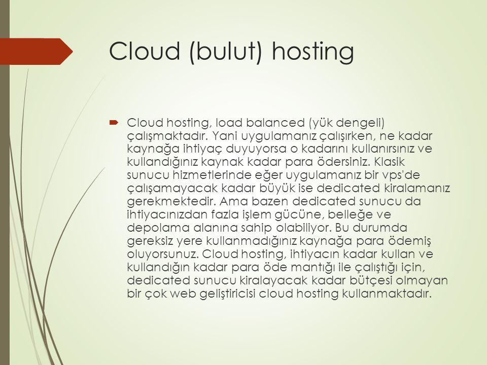Cloud (bulut) hosting