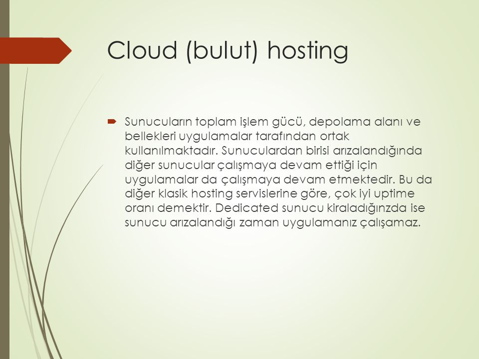 Cloud (bulut) hosting