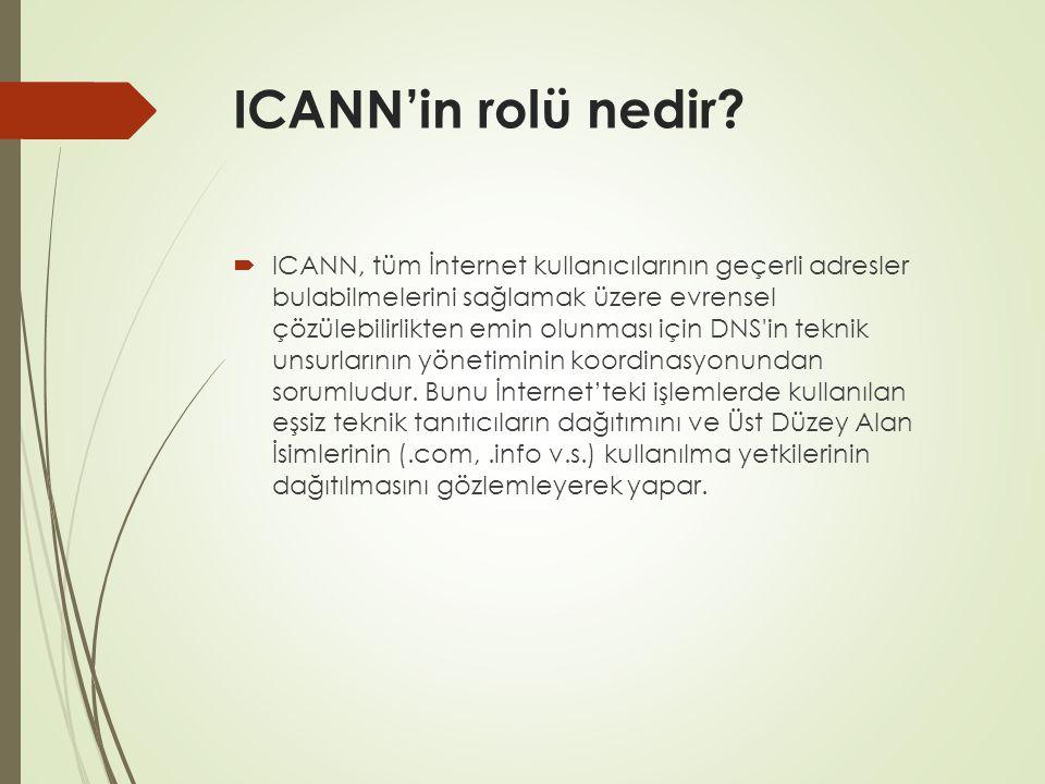ICANN'in rolü nedir