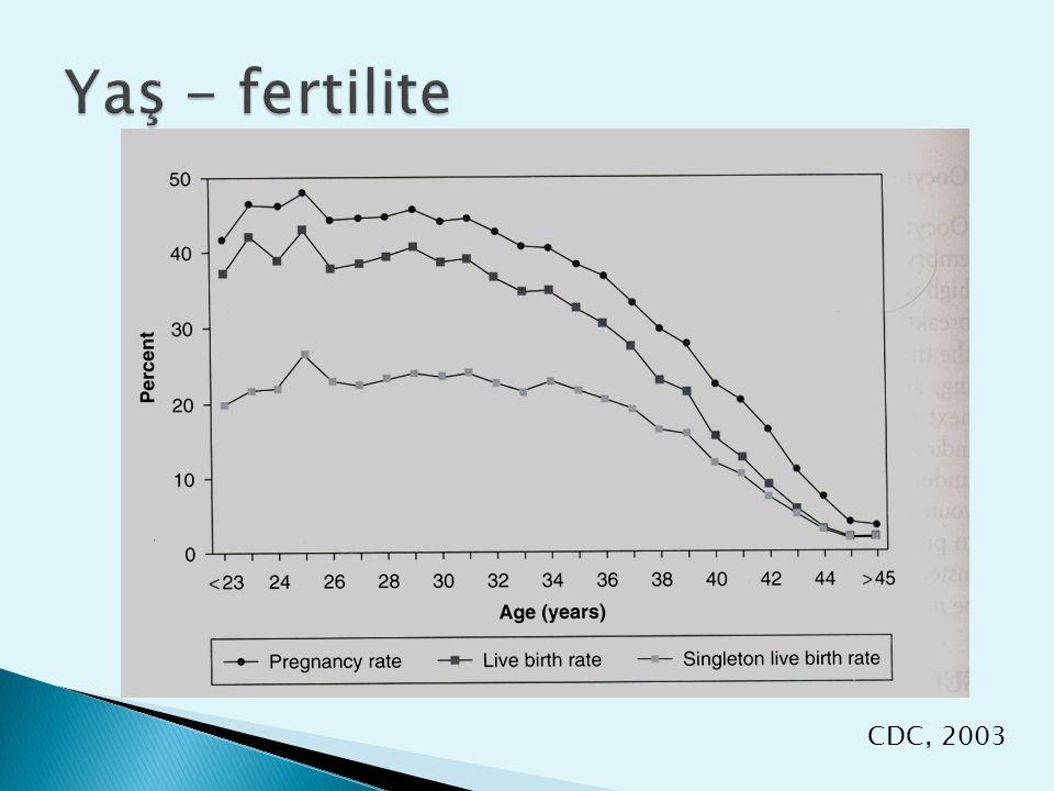 Yaş - fertilite CDC, 2003