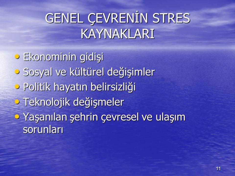 GENEL ÇEVRENİN STRES KAYNAKLARI