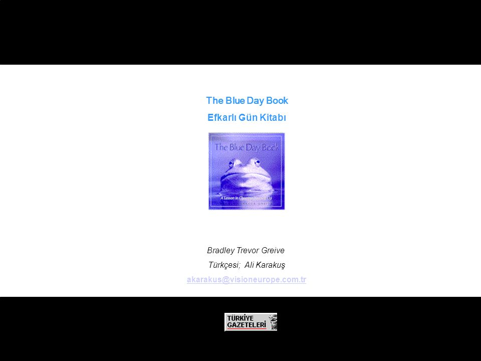 The Blue Day Book Efkarlı Gün Kitabı Bradley Trevor Greive