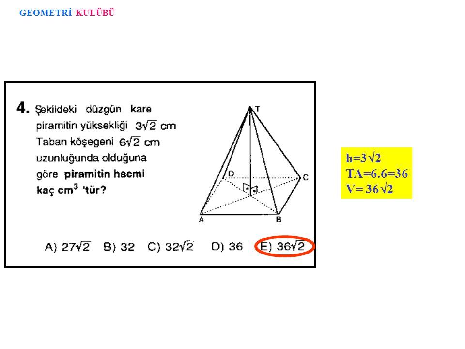 GEOMETRİ KULÜBÜ h=32 TA=6.6=36 V= 362