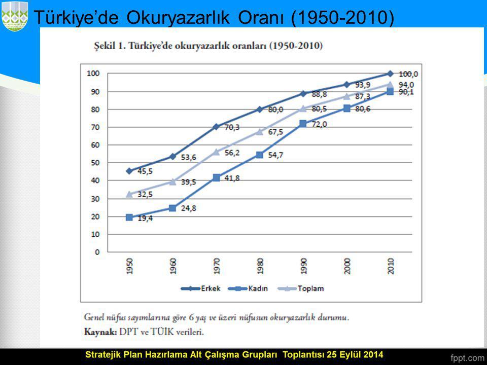 Türkiye'de Okuryazarlık Oranı (1950-2010)