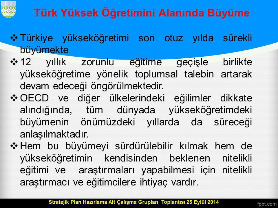 Türk Yüksek Öğretimini Alanında Büyüme