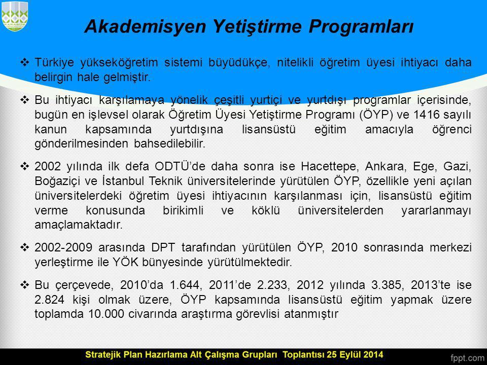 Akademisyen Yetiştirme Programları