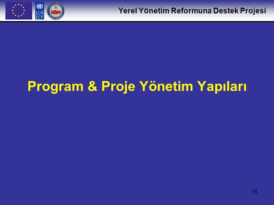 Program & Proje Yönetim Yapıları