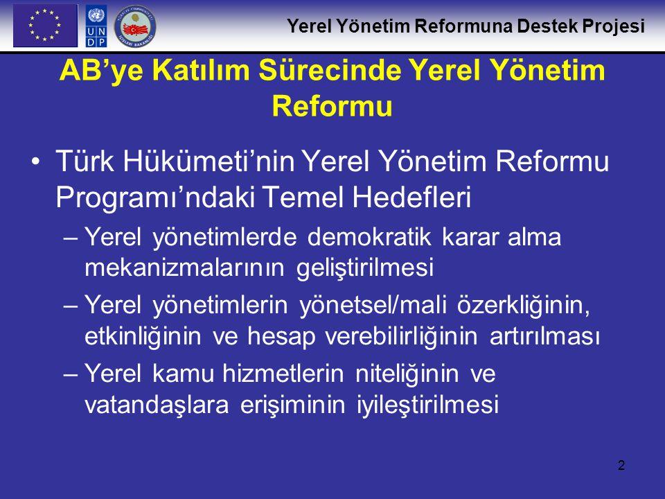 AB'ye Katılım Sürecinde Yerel Yönetim Reformu