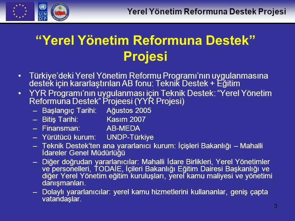 Yerel Yönetim Reformuna Destek Projesi
