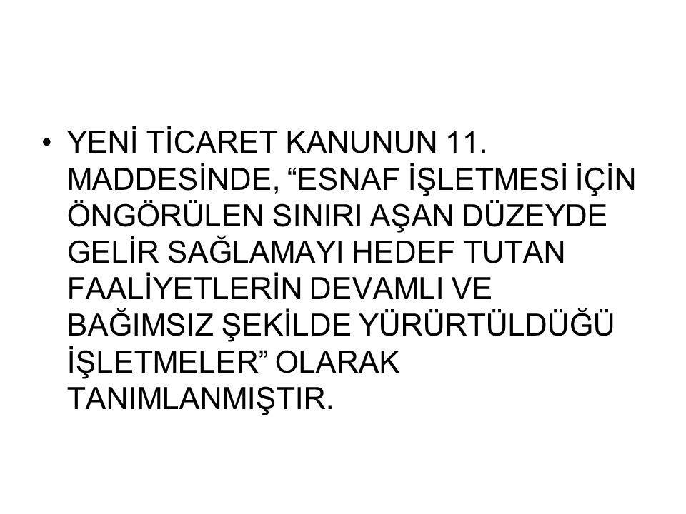 YENİ TİCARET KANUNUN 11.