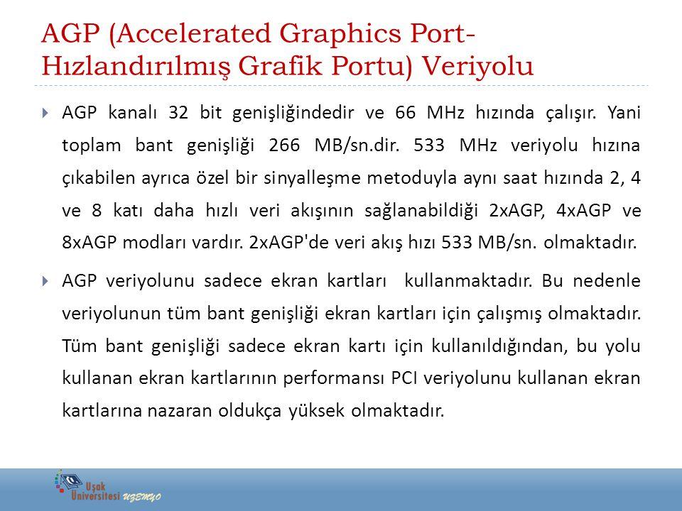 AGP (Accelerated Graphics Port-Hızlandırılmış Grafik Portu) Veriyolu