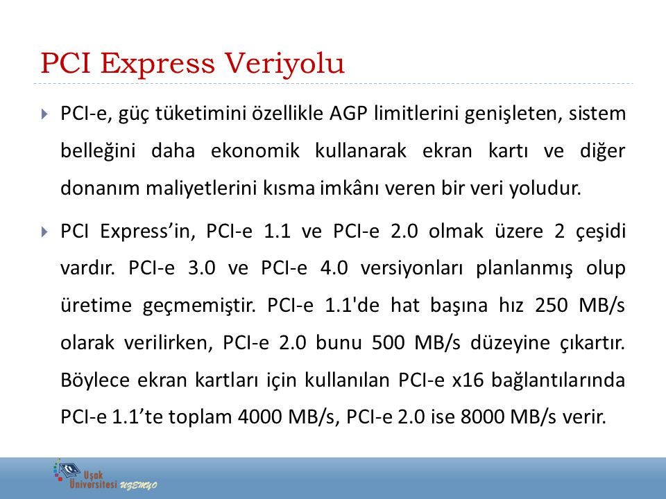 PCI Express Veriyolu