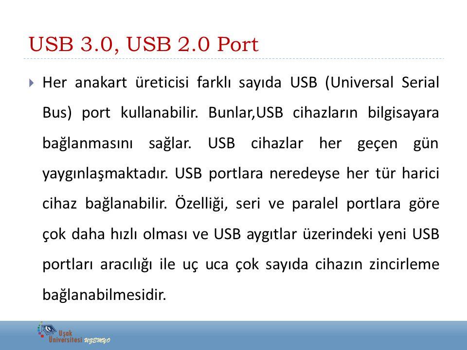 USB 3.0, USB 2.0 Port