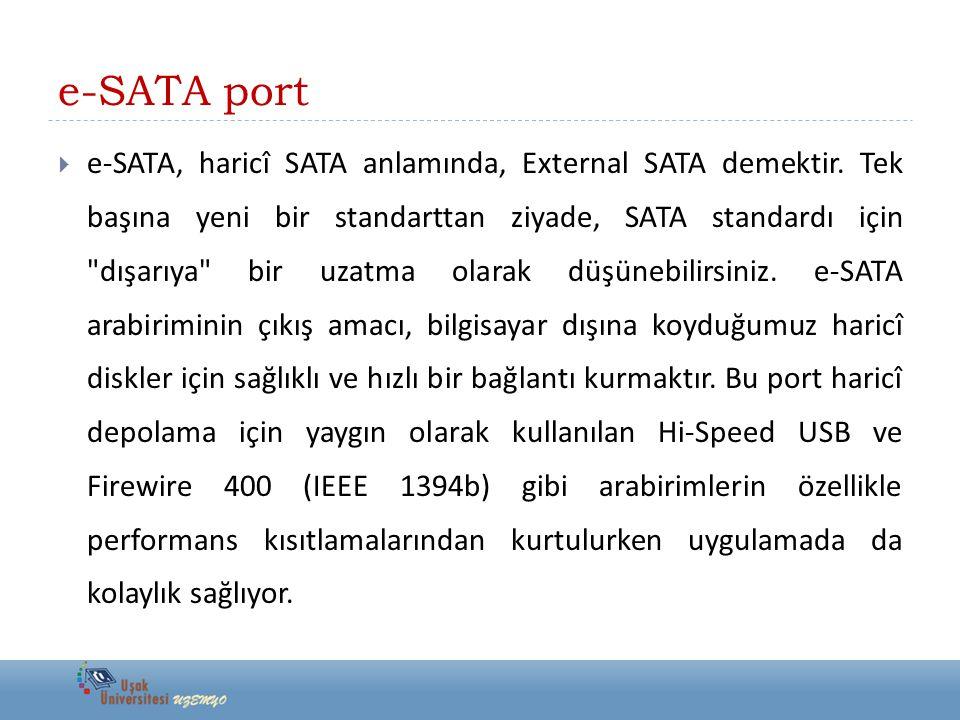 e-SATA port
