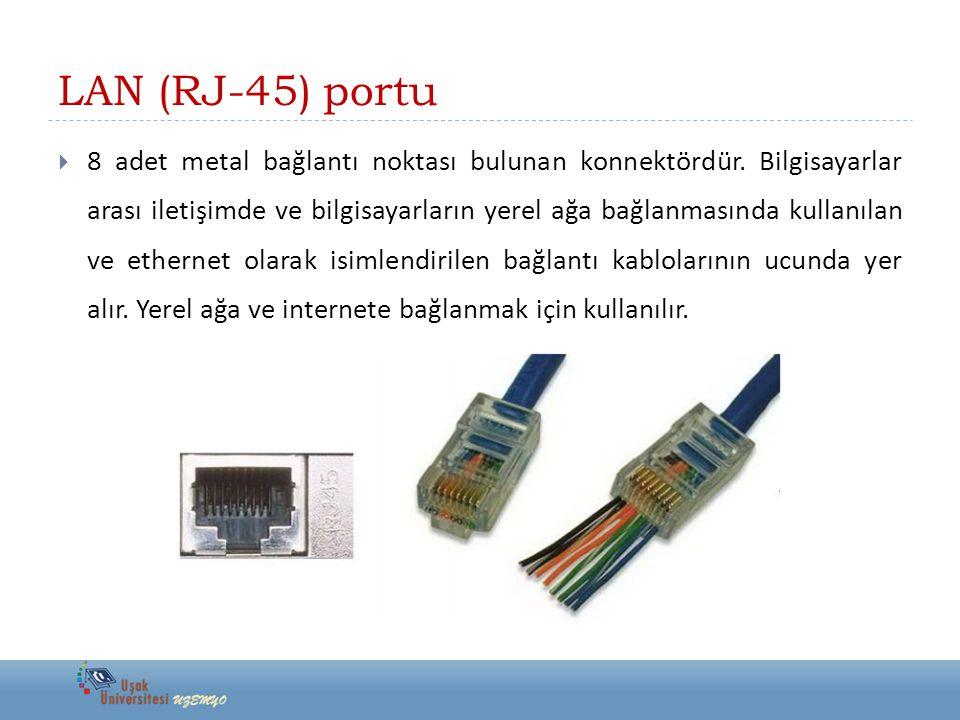 LAN (RJ-45) portu