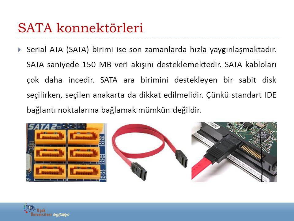 SATA konnektörleri