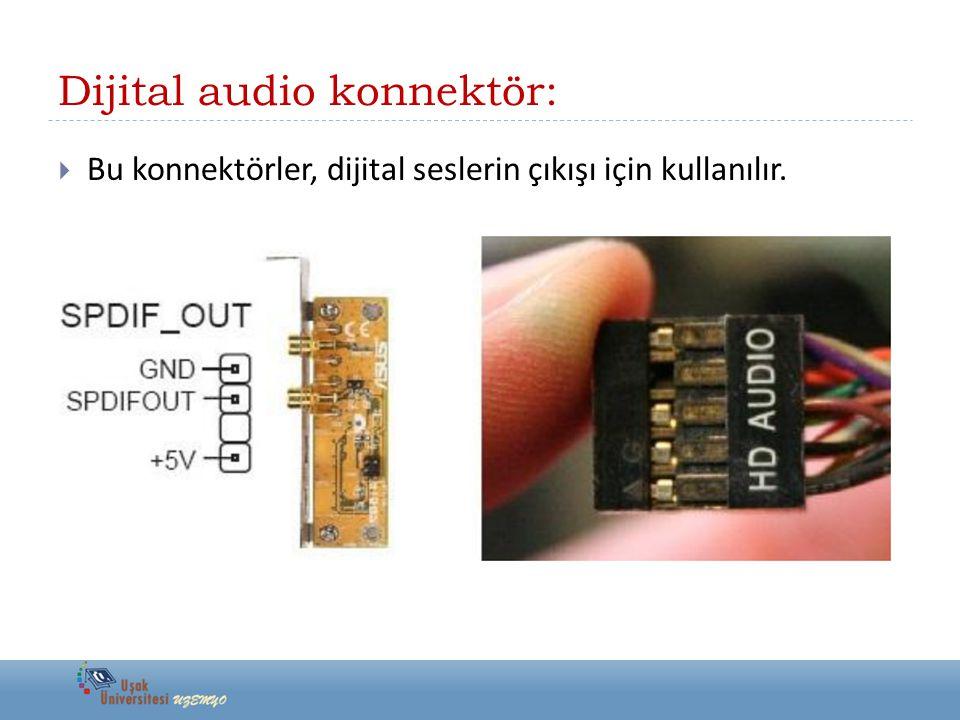 Dijital audio konnektör: