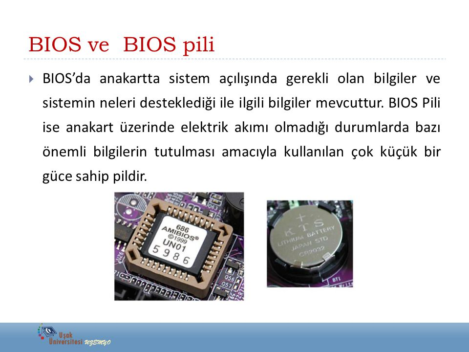 BIOS ve BIOS pili