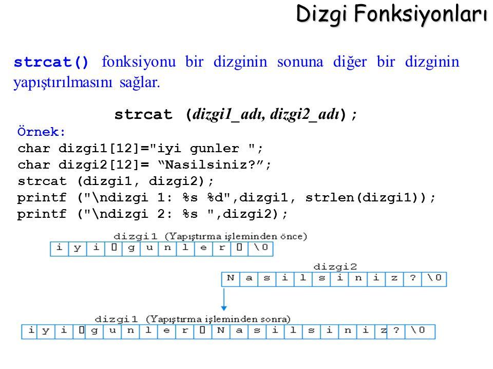 strcat (dizgi1_adı, dizgi2_adı);